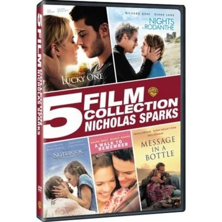Nicholas Sparks: 5 Film Collection - The Lucky One / Nights In Rodanthe / The Notebook / A Walk To Remember / Message In A Bottle (DVD + Digital Copy) (Walmart