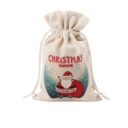 Cute Drawstring Storage Bag Santa Claus Christams Gift Bag Home Decorations - Cute Gift Bags