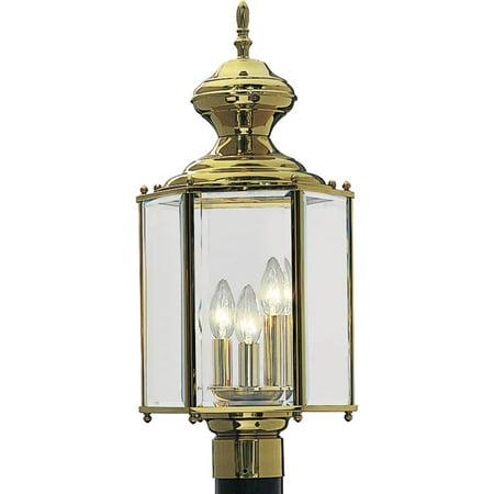 - BrassGUARD Collection Three-Light Post Lantern