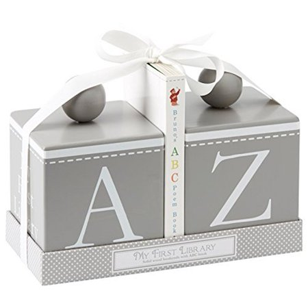 Child to Cherish - Wooden Bookends Set - Gray