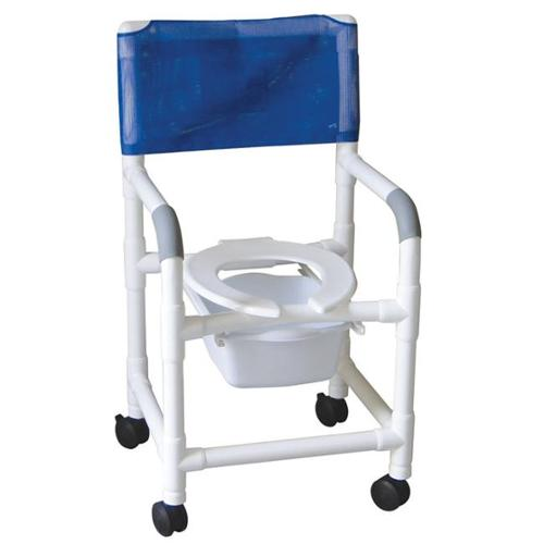 MJM International 118-3-SQ-PAIL Shower- Commode Chair