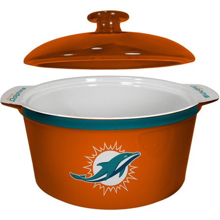 NFL Miami Dolphins Ceramic Game Time Oven Bowl by