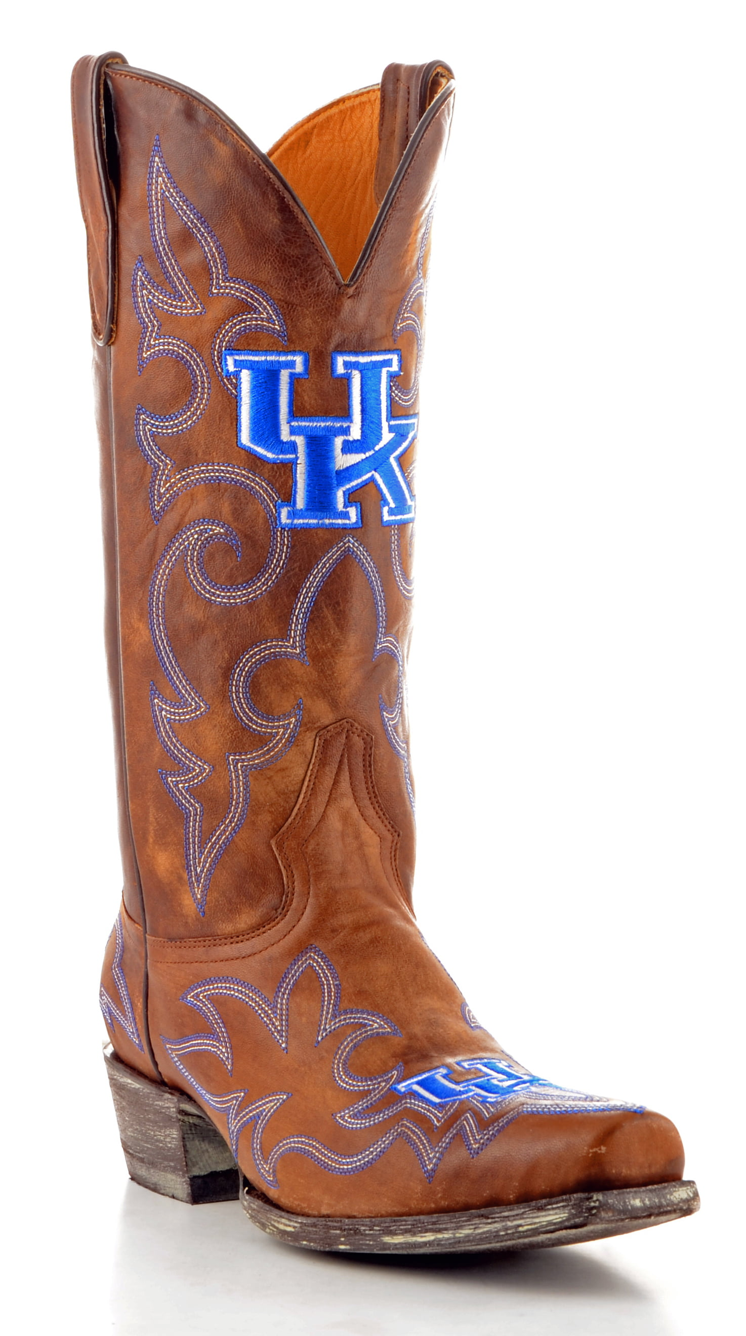 Gameday Boots Mens Leather Kentucky Cowboy Boots by GameDay Boots