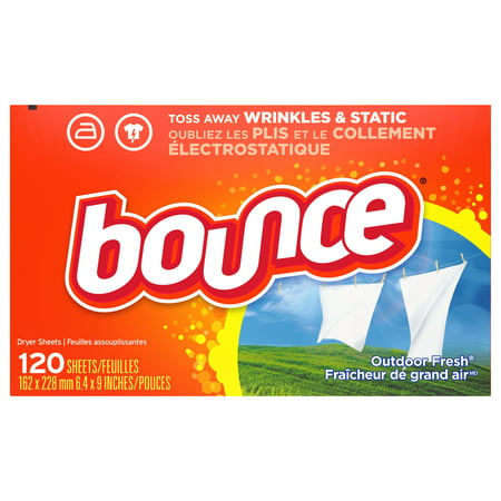 Bounce Outdoor Fresh Scented Fabric Softener Dryer Sheets, 120