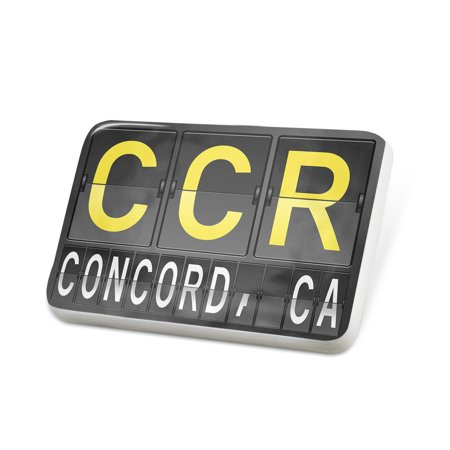 Porcelein Pin CCR Airport Code for Concord, CA Lapel Badge – NEONBLOND