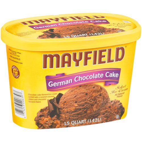 Mayfield German Chocolate Cake Ice Cream 15 qt Walmartcom