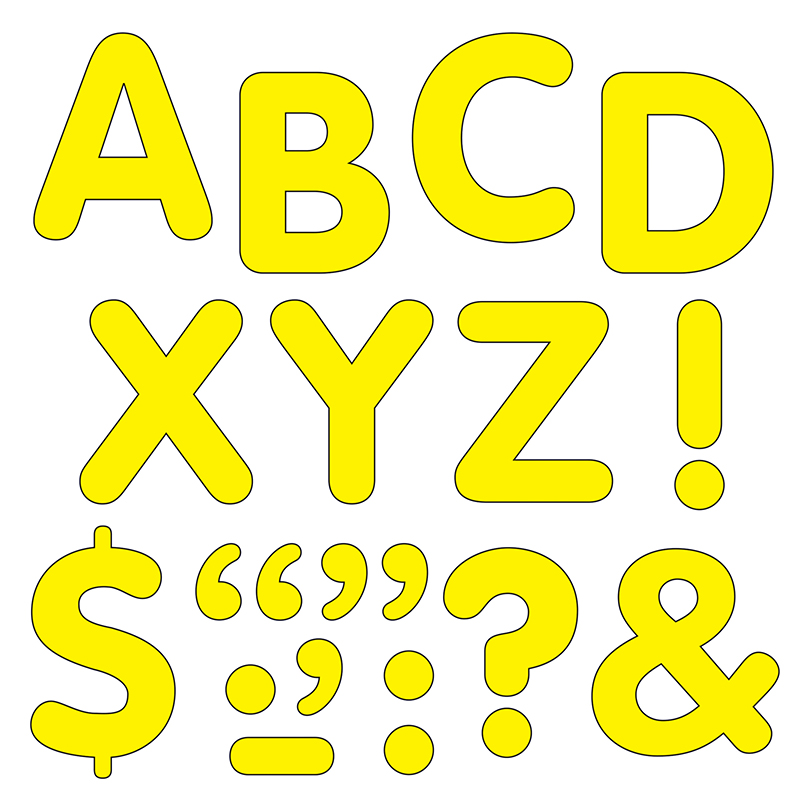 STICK-EZE 2 IN LETTERS & MARKS YLW
