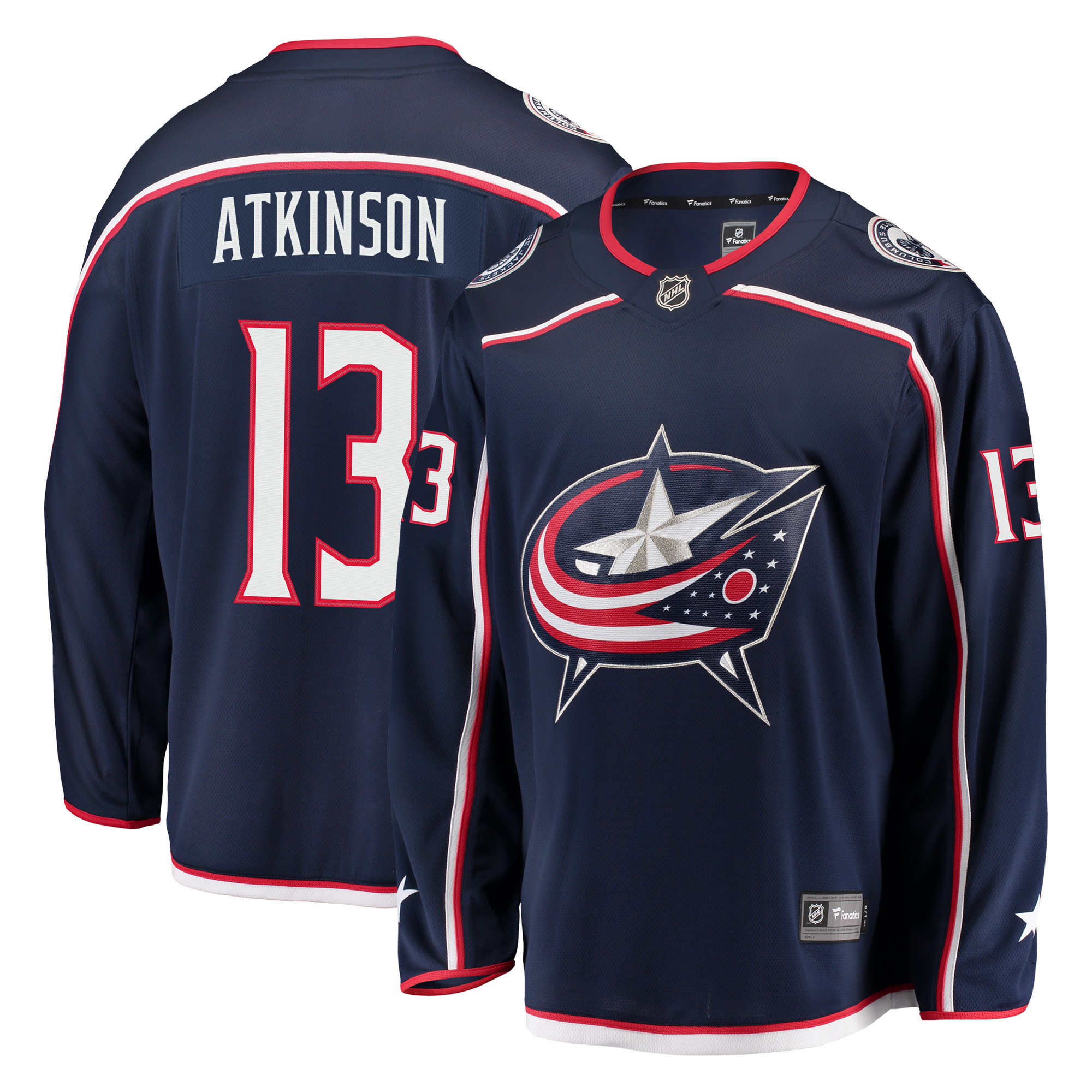 Cam Atkinson Columbus Blue Jackets Fanatics Branded Breakaway Jersey - Navy
