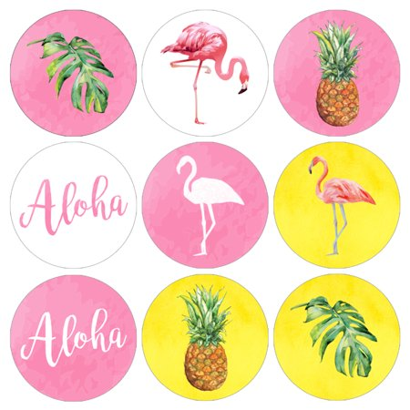 Flamingo Party Decoration Stickers 216ct - Flamingo Pineapple Party Decor Supplies Candy Favors for $<!---->