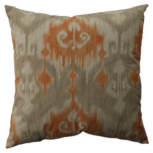 Pillow Perfect Marlena Ikat Cotton Throw Pillow