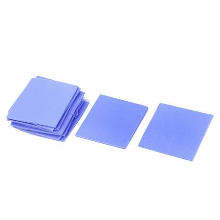 10pcs Blue Thermal Pad GPU CPU Heatsink Cooling Conductive Silicone