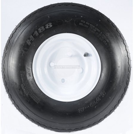 - Two Trailer Tires & Rims 5.70-8 570-8 5.70 X 8 8