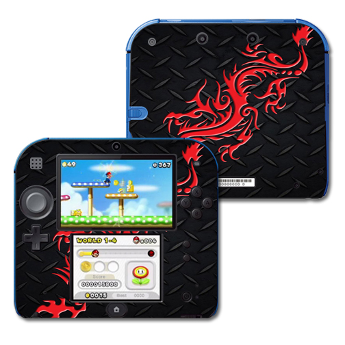 Mightyskins Protective Vinyl Skin Decal Cover for Nintendo 2DS wrap sticker skins Red Dragon