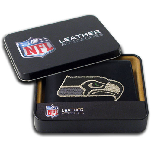 NFL - Men's Seattle Seahawks Embroidered Billfold Wallet