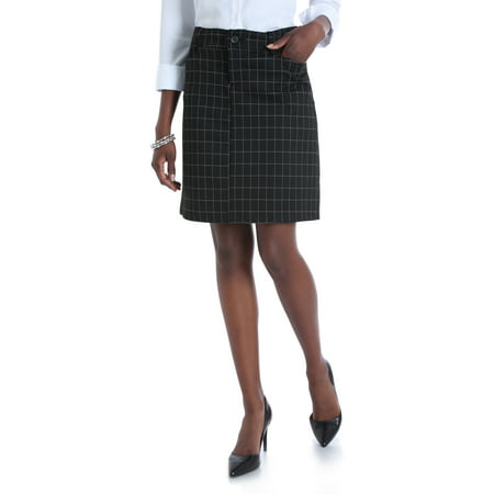 Women's Ponte Knit Comfort Waist Skirt