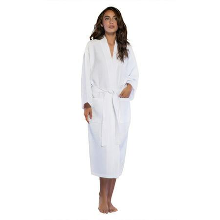 0027455a01 Turquaz Linen - Turquaz Linen Lightweight Long Waffle Kimono Spa Robe for  Women (One Size