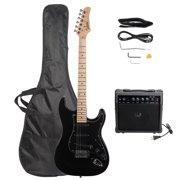 Glarry 6 Strings Right Hand Electric Guitar Package for Beginner,Black