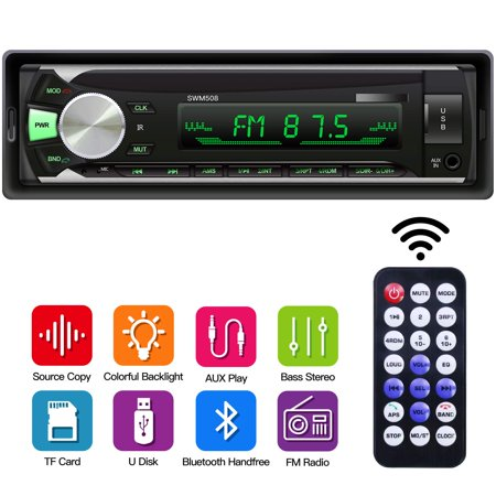 Tagital Car Stereo with Bluetooth In-Dash Single Din Car Radio, Car MP3 Player USB/SD/AUX/Wireless Remote (The Best Bluetooth Car Stereo)