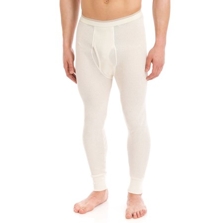 Essential Apparel Old School Waffle Knit Thermal Bottoms - Big & Tall, Natural, XLarge-Tall
