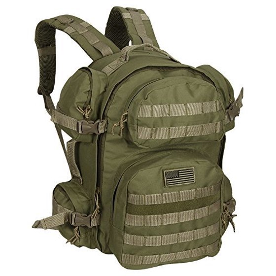 55312f78f065 Large Expandable Tactical Molle Hydration-Ready Backpack Navy Digital Camo  - Walmart.com