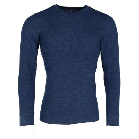 Men's  Waffle Knit Space Dyed Thermal Shirt,
