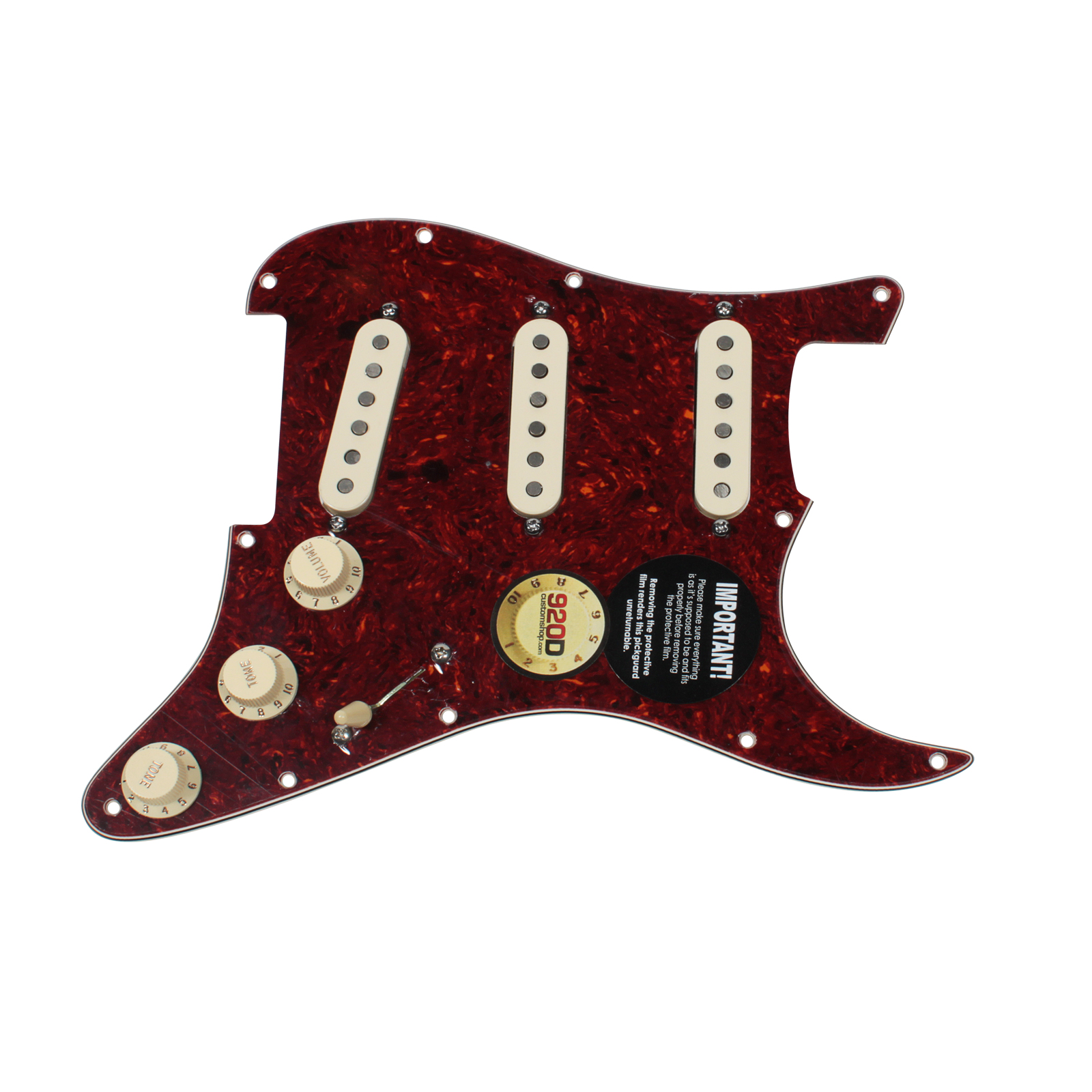 Fender Tex-Mex 920D Loaded Pre-wired Strat Pickguard TO AW by