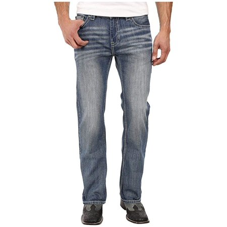 Rock & Roll Cowboy Men's and Pistol Running Stitch Jeans Boot Cut Denim 32W x 34L ()
