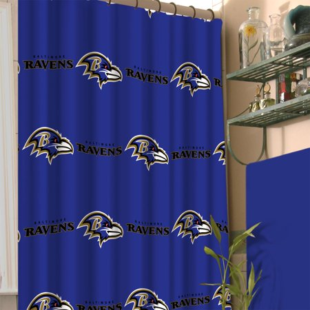 NFL Baltimore Ravens Shower Curtain Football Team Logo Bath Accessory