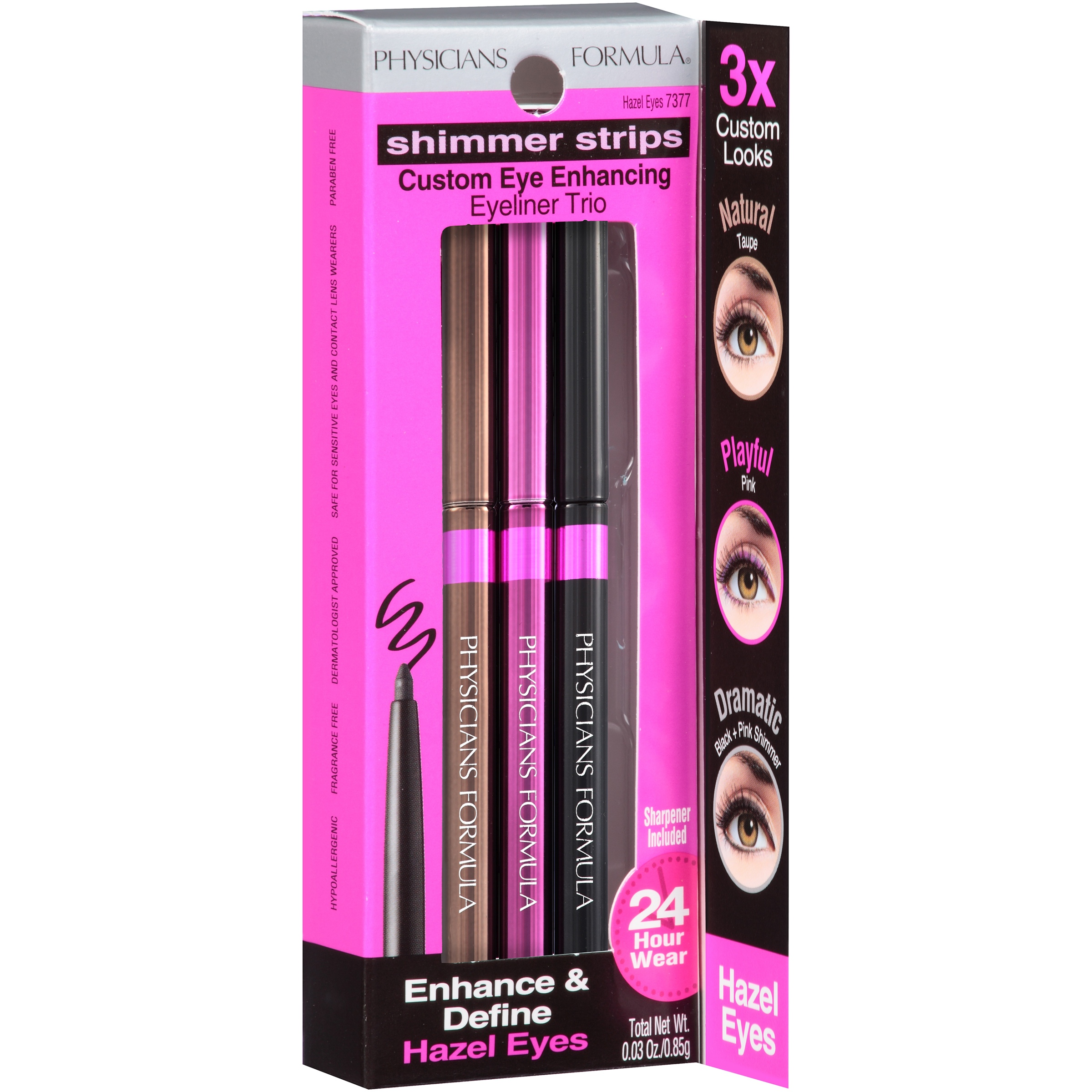 Shimmer Strips Haxel eyes Custom Eye Enhancing Eyeliner Trio 3 ct Box