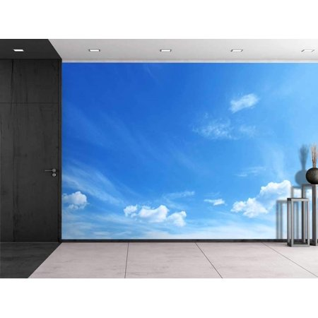 wall26 - Large Wall Mural - Clouds in Sunny Blue Sky | Self-Adhesive Vinyl Wallpaper/Removable Modern Decorating Wall Art - 100