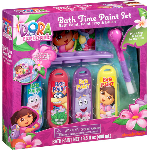Nickelodeon Dora the Explorer Bath Time Paint Set, 6 pc