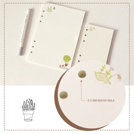 45 Sheet A5 A6 Colorful Loose Leaf Notebook Refill Spiral Binder Planner Inner Page Office (Leaf Planter)