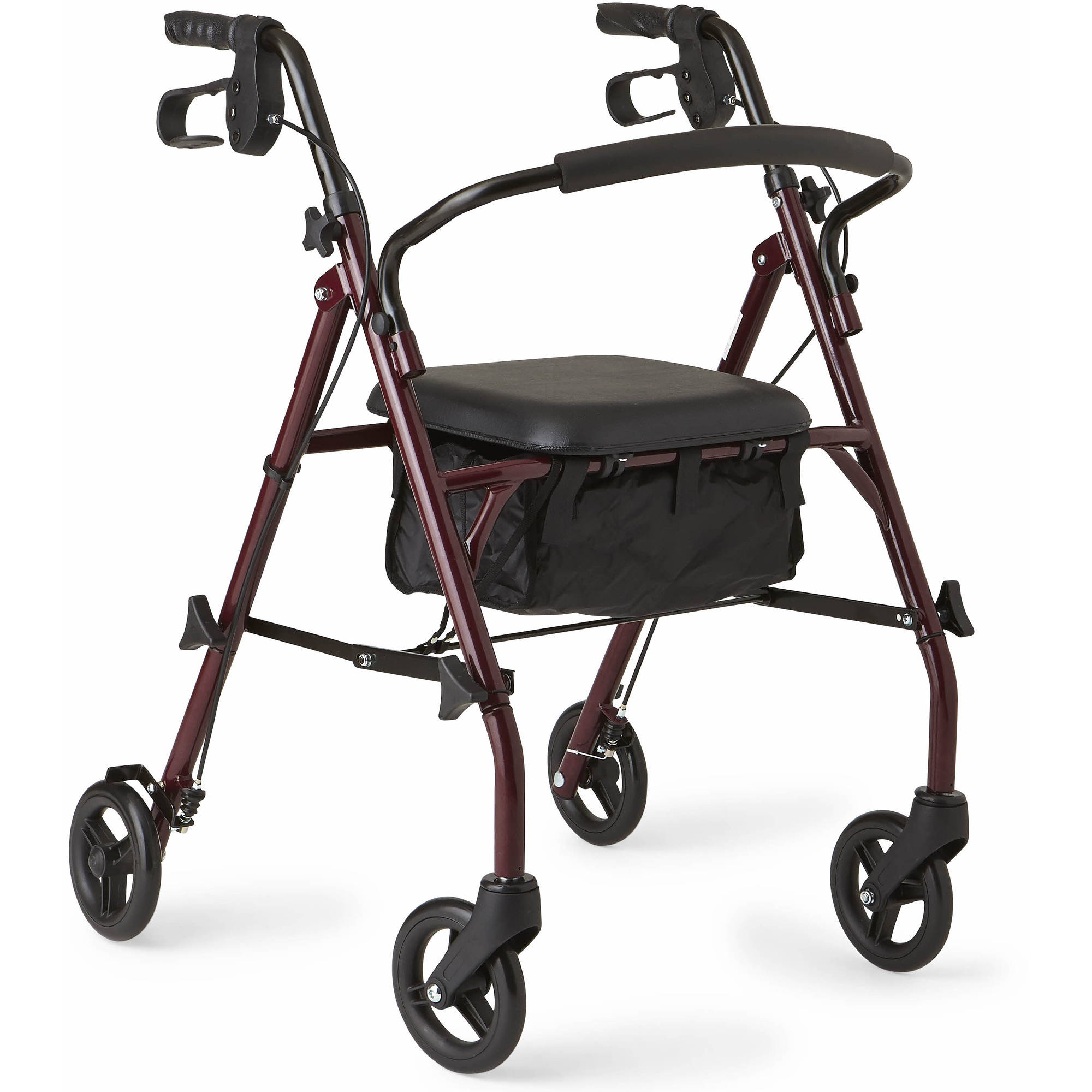 Drive Medical Steel Rollator Rolling Walker with 8\
