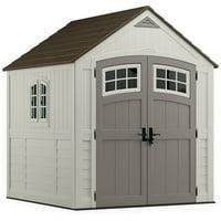 Suncast Cascade® Storage Shed for Backyard, Vanilla, 7'x7', 322 cu. ft.