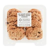 Freshness Guaranteed No Sugar Added Oatmeal Raisin Cookies, 14 oz
