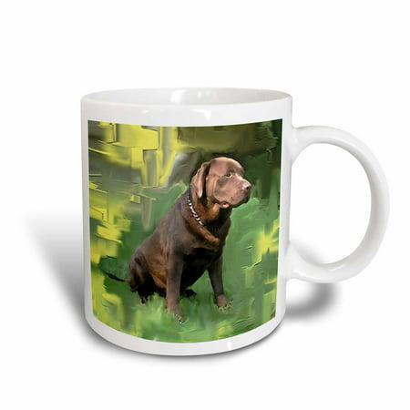 3dRose Chocolate Labrador Retriever, Ceramic Mug, 11-ounce