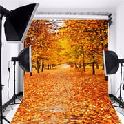 5x7FT Photography Backdrop Background Vinyl Fabric Cloth Photo Studio Props Equipment Multi-style Autumn Fall Forest Wood Floor Christmas Gift