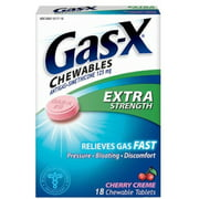 Gas-X Chewables Extra Strength Cherry Creme Tablets 48 ea (Pack of 6)