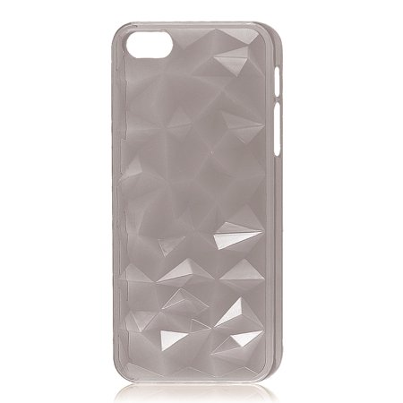 Unique Bargains 3D Water Cube Hard Back Case Cover Clear Gray for iPhone 5 5G 5th