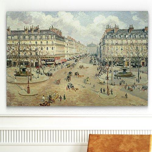 Astoria Grand 'Avenue De L'Opera - Morning Sunshine' Graphic Art Print on Wrapped Canvas