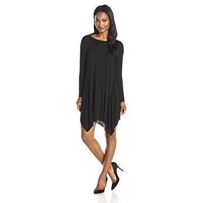 Olive   Oak Womens Long Sleeve Novelty Swing Dress  Black  Medium