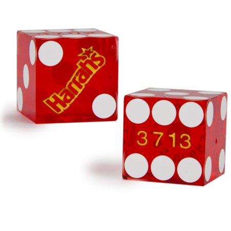 Harrahs Casino - Pair (2) of Harrah's 19 MM Official Casino Dice