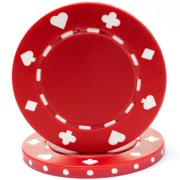 100 Suited Chip, 11.5gm, Red By Trademark Poker Ship from US by
