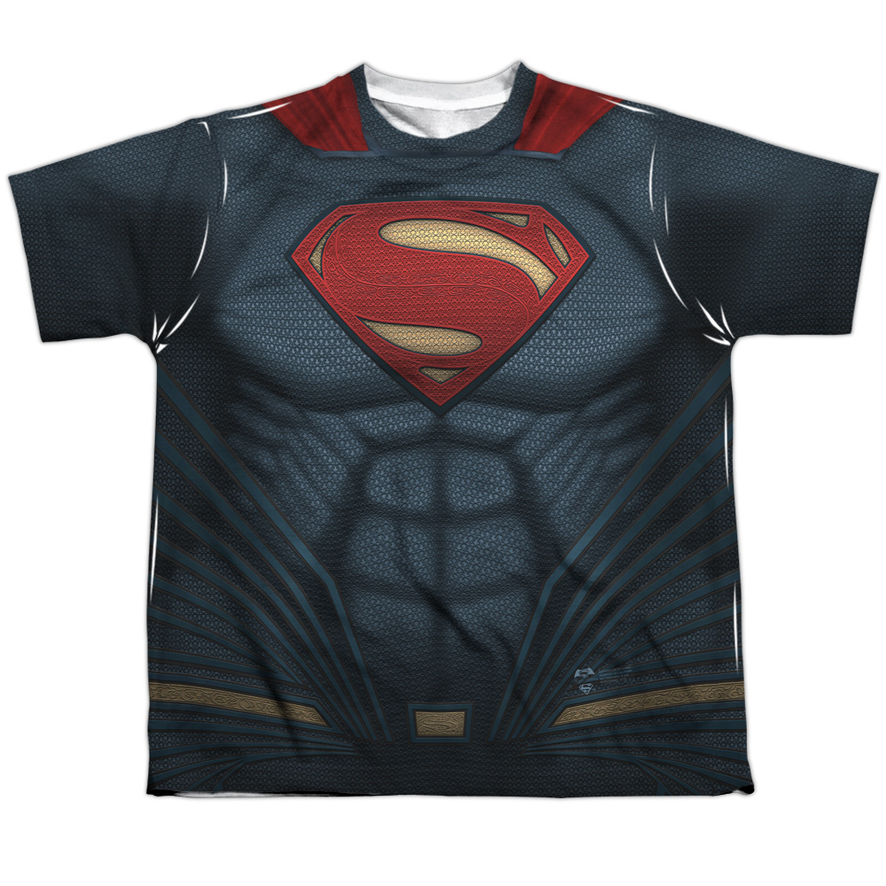Batman Vs Superman Superman  Uniform (Front Back Print) Big Boys Sub Shirt