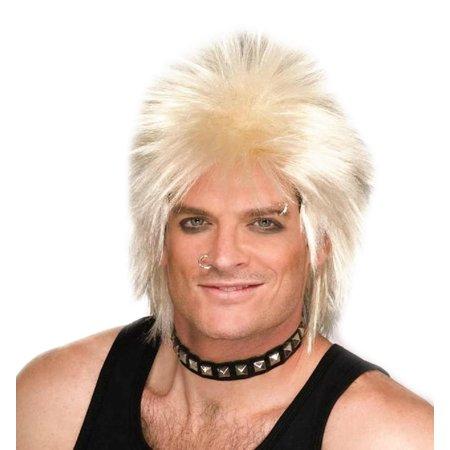 80's Punk Rock Rock Idol - Blonde Costume Wig - image 1 de 1