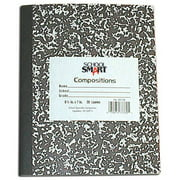 """School Smart Hard Cover Marble Back Composition Book, 9.75"""" x 7.5"""", 60 Sheets"""