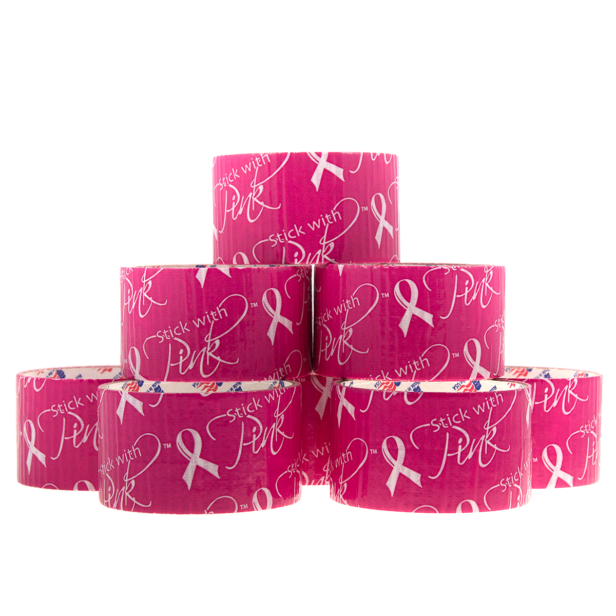 8 Rolls Breast Cancer Awareness Duct Tape Stick With Pink Arts Crafts DIY Duck Bulk Rolls Decorative Hobby Fashion Décor Printed
