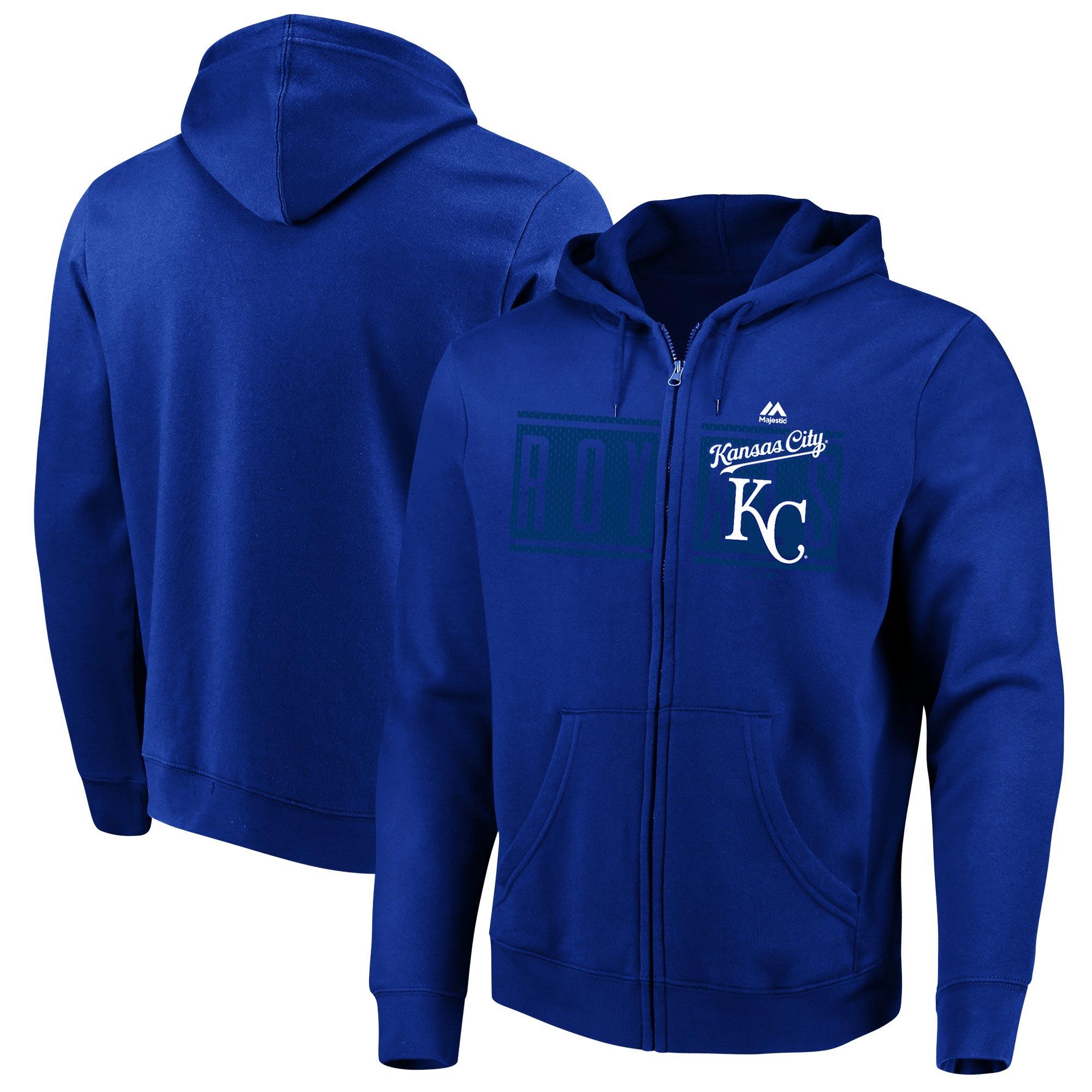 Kansas City Royals Majestic Piercing Attack Full-Zip Hoodie - Royal