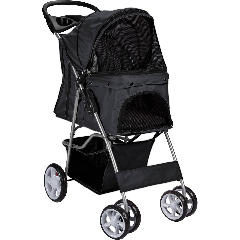 OxGord Pet Stroller Cat/Dog Easy Walk Folding Travel Carriage, 2016 Design - Walmart.com