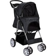 OxGord Paws & Pals Pet Stroller Cat/Dog Easy Walk Folding Travel 4-wheel Carriage, 2018 Design